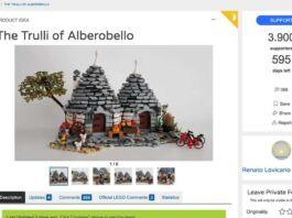 Trulli in versione Lego, idea di un grafico barese
