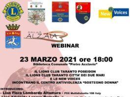 Taranto, Lions Club: confronto sul tema della violenza sulle donne