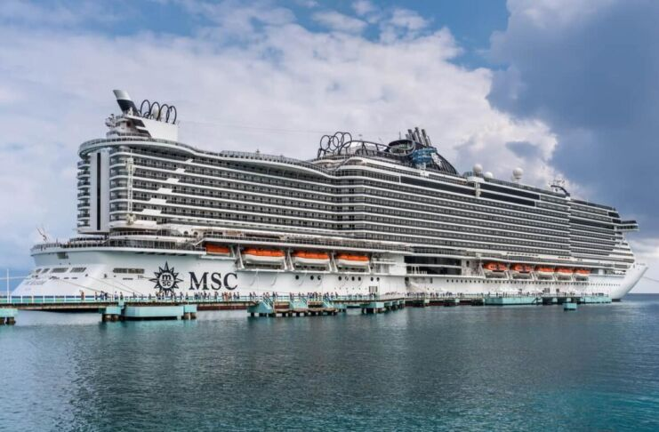 MSC Seaside arriva a Taranto