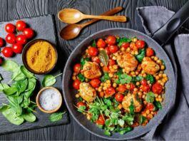 Ricetta Pollo e ceci con pomodorini