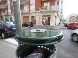 cestini differenziati spazzatura strade taranto