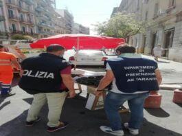mitili sequestrati a Taranto