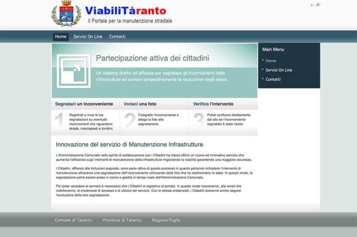 Taranto, Melucci: arriva il nuovo portale ViabiliTàranto