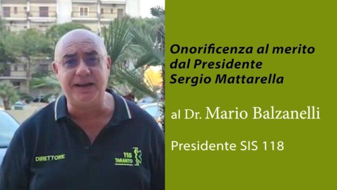 presidente sis 118 Mario Balzanelli