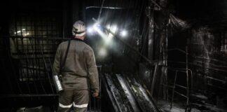 crollo di una miniera di carbone