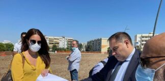 Melucci avvia il cantiere del nuovo centro sportivo a Talsano